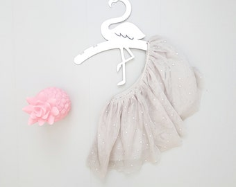 Flower Girl Hanger, Kids Hanger, Flamingo Wall Art, Tropical Nursery, Baby Shower Gift, Children Hangers, Kids Decor, Wedding Dress Hanger
