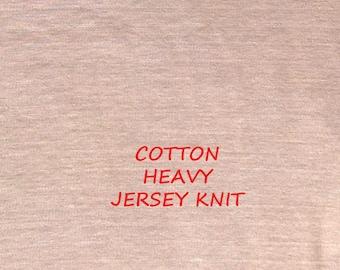 Pale Melon Pink, Heavy Jersey Knit, Wide Fashion Fabric, Cotton, half yard, B23