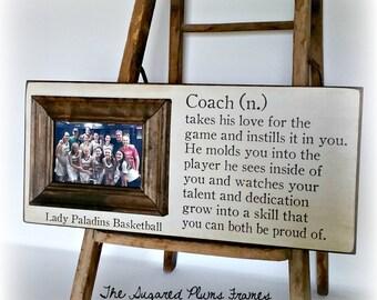 Basketball Coach Gift, End of Season Gift, Coach Frame, Soccer Coach, Football Coach, Cheer Coach, 8x20