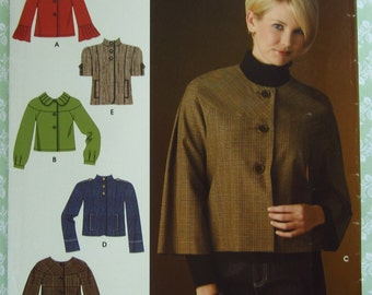 Misses Jackets with Sleeve Variations Sizes 14 16 18 20 22 Simplicity Pattern 0613 UNCUT