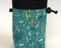 Chalk bag, Climbing Chalk Bag, Chalk bag Climbing, Rock Climbing Chalk bag, Climbing Gear, Mushrooms, Mushroom Chalk Bag