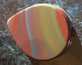 Hickoryite Cabochon,  Wonderstone - Pastel Colors and Banding, 20.3mm x 24mm x 5.5mm