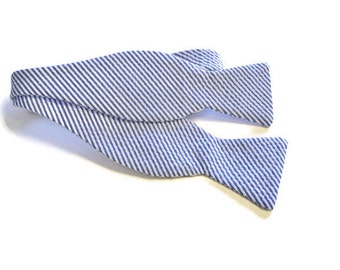 Seersucker Bow Tie, Wedding Bow Tie, Wedding Gifts, Groomsmen Gifts, Available in Blue, Navy, Pink, Yellow, Green, Red, wedding accessory