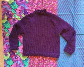 Bulky weight crew neck sweater