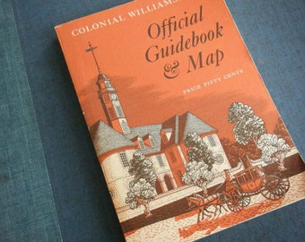 1970 Colonial Williamsburg Official Guidebook and Map