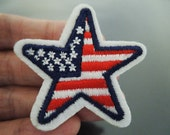 USA Country Flag Patches -  Iron on Patch / Sewing on Patch Star Patch Stars Patch Embellishments Embroidery Applique