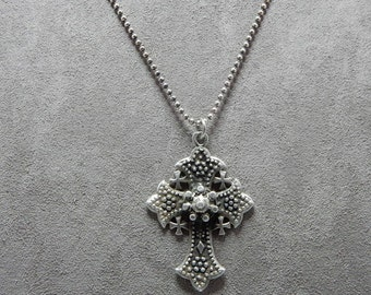 Sterling Silver Bethlehem Cross & Sterling Chain