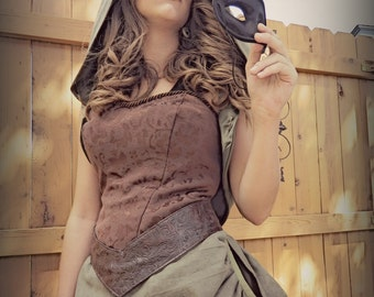 Brown Corset Steampunk Arrow