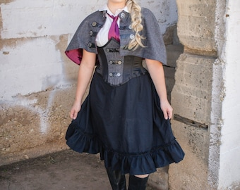 Airship Stewardess Cape and Corset Steampunk Sherlock