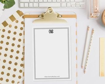 Personalized Notepad - Monogram - Custom Stationery Journal Note Pad