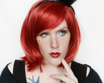 SALE Red wig | Short Red wig, Red Scene wig, Scene emo wig | Halloween wig, Cosplay wig | Ruby Queen