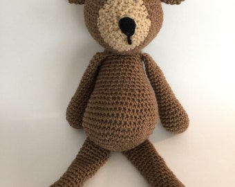 Crochet Amigurumi Brown Bear Plush