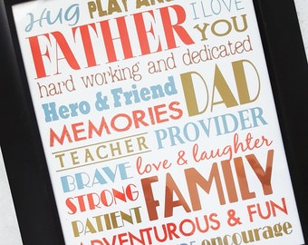 Father's Day or June Subway Art - Printable INSTANT Download