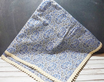 Blue and Gold Table Scarf