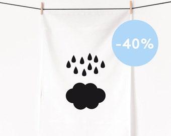Cloud / Screenprinted tea towel - Last pieces