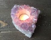 Amethyst Cluster Candle Holder
