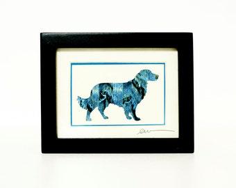 Golden Retriever Collage - Miniature Original Dog Art
