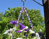 Pink and purple hanging basket wire