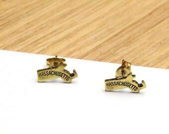 Massachusetts State Stud Earrings Small MA Stud Earrings