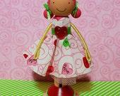 SweetHeart Vivian Miniature Wooden Clothespin Doll