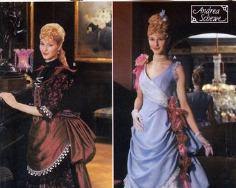 Simplicity 5457 Sewing Pattern by Andrea Schewe for Historic Misses' Victorian Costume - Uncut - Size 14, 16, 18, 20
