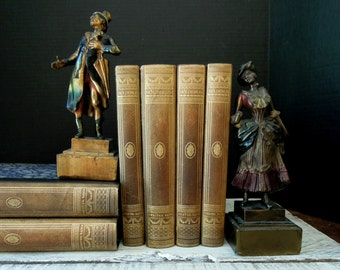 Vintage Pompeian Bronze Bookends / The Singers /