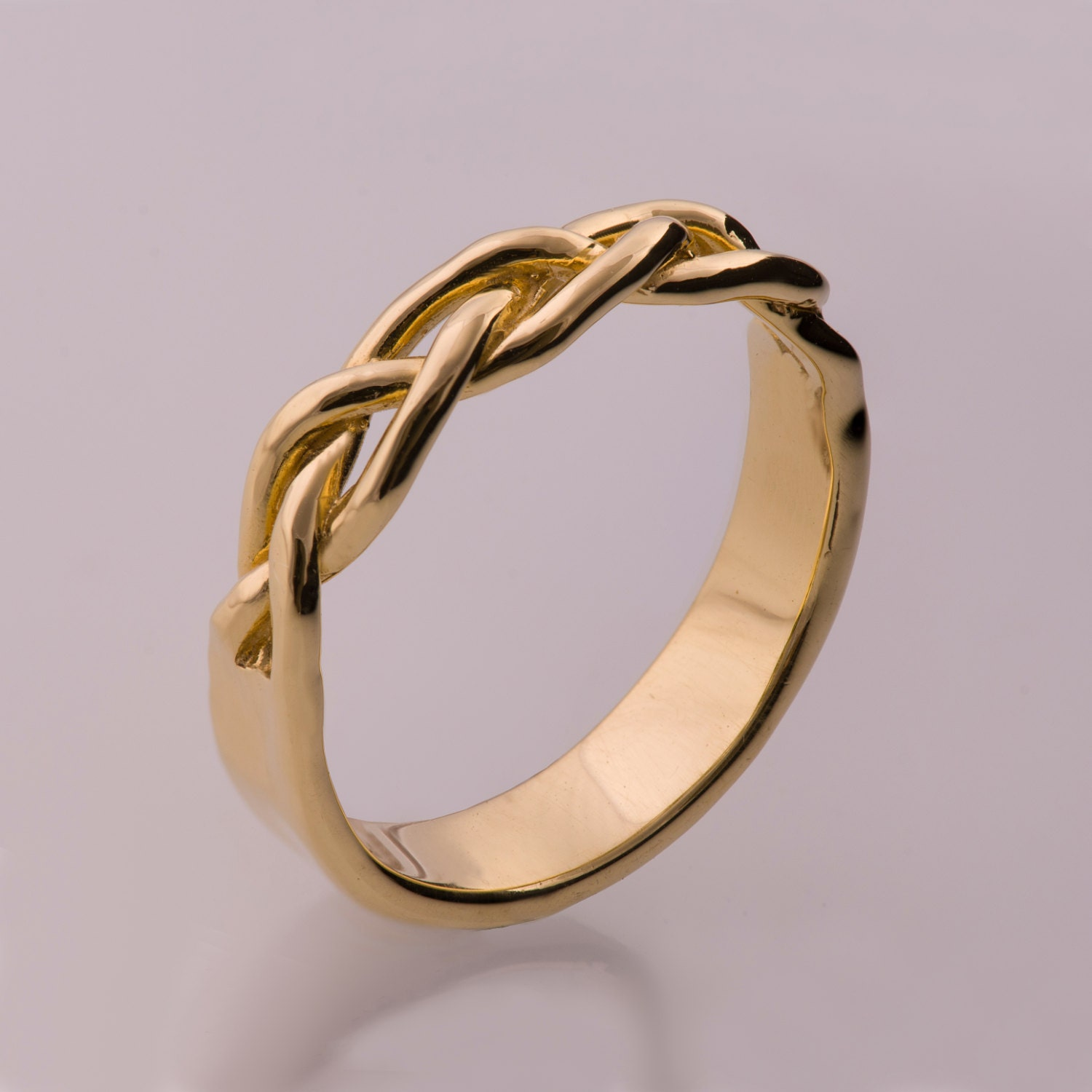 Braided Ring No 6 14K Gold Stackable Ring Wedding Band