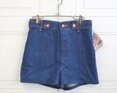 1980s NOS Wrangler Junior Size Cotton Denim Shorts