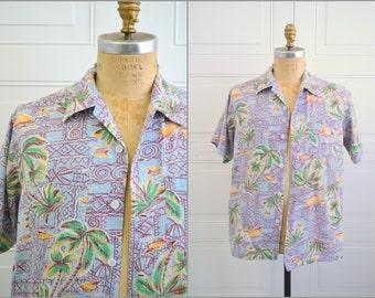 1950s Guymont Seersucker Tropical Shirt
