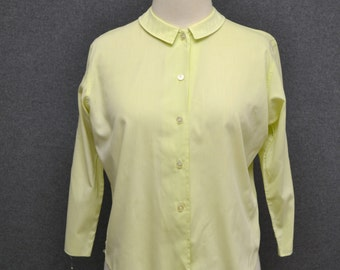 1960s Majestic Pale Green Blouse