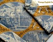 Vintage English Toile Cotton Fabric - Exclusive Design - Lee Jofa