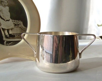 Vintage Silver Plate Baby Cup Double Handle Childs Cup Baby Cup Baby Shower Gift Childs Mug
