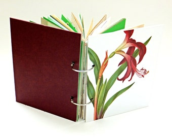 Garden Journal, Gardening Notebook, Nature Notebook, Spring Journal, Smash Book, Mixed Paper Journal. Rescued Paper. Recycled. Junk Journal