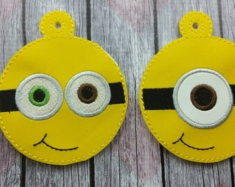 Yellow Follower Ornament, One eyed minion, two eyed minion