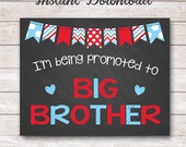 INSTANT DOWNLOAD - Valentine's Day Big Brother Pregnancy Announcement Chalkboard Poster Photo Prop 11x14