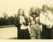 "Julianne Photo ""Holding a Photographic Memory"" Girls Snapshot Photo Antique Black & White Photograph Found Paper Ephemera Vernacular - 54"