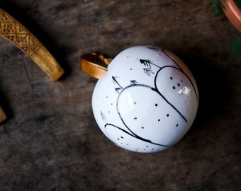 Christmas baubles, white porcelain ornament, gift for host ,hostess, work colleague, boss, teacher, Unique Christmas Gift under 50,  karoArt