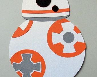 Star Wars Inspired Sphero Bb-8 Robot Paper Die Cut Paper Doll Scrapbook Embellishment