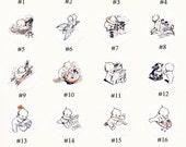 Kewpies Stickers   Envelope Seals   Set of Eight or All Twenty 1.5 inch Seals - Rose O'Neill Kewpie