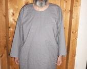 tunic in gray cotton