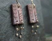 Return -  Primitive Anglo-Saxon, wood-fired ceramic and sterling silver earrings