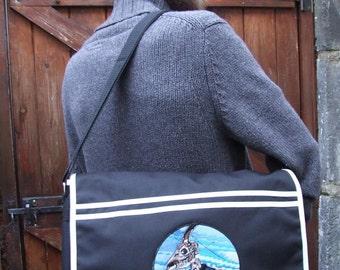 messenger bag nu goth steampunk animal skull bones skeleton military uniform pastel goth surreal record bag cross body bag - goth