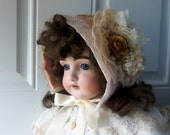 Baby Bonnet - Easter Bonnet, Sun Bonnet, Summer Fashion, Downton Abbey, French Inspired, Family Reunion, Baby Photo, New Baby, Gift Idea