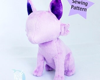 PDF Pattern Sitting Feline Cat Plush Digital Download