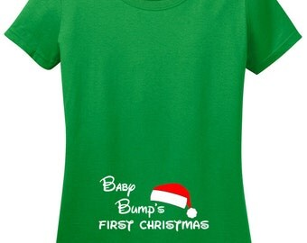 Baby Bump's First Christmas T-Shirt, Gift for Mom to be, Pregnancy gift, Pregnant, Holiday pregnancy