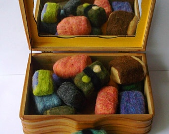 Wool Felted Soap Seagrass and Bergamot