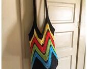 Beach bag - market bag - crochet market bag - crochet beach bag - tote - crochet tote - reusable bag - free shipping - ecofriendly
