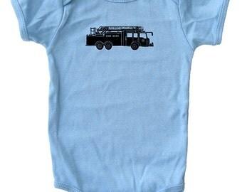 Fire Engine Baby Shirt - Fire Truck Baby Shirt - Baby Shirt - Green Pink Blue - 3-6 month, 6-12 month, 12-18 month, and 18-24 month - Gift