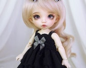 Black ruffle dress for PukiFee, Lati Yellow