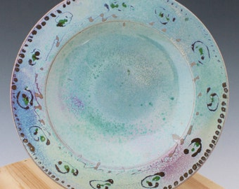 Ceramic Green to Red Serving Bowl #03, Serving Platters, Large Shallow Soup Bowls, Ceramic Pasta Bowls